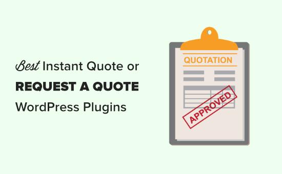 Le meilleur 'demander un devis&#039 ; plugins pour WordPress